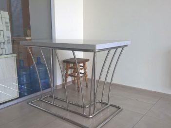 Барный стол из нержавейки
